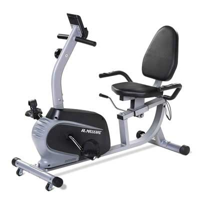 8. MaxKare Recumbent Bike with an Adjustable Seat & Resistance