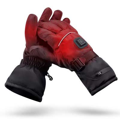 #8. ANGUO Heated Gloves with a Rechargeable Battery for Men & Women