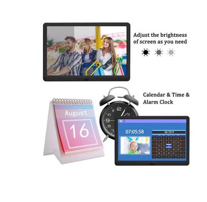 9. Atatat Adjustable Music Support Digital Photo Frame with IPS Touch Screen