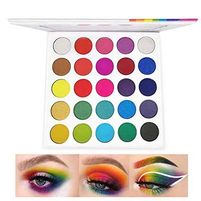 8. MSJiA Rainbow Eyeshadow Palette, Long Lasting Shades & Waterproof Cosmetics Set