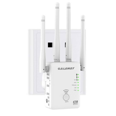 2. GALAWAY-US Upgraded AC1200 WiFi Range Extender with 4 External Antennas