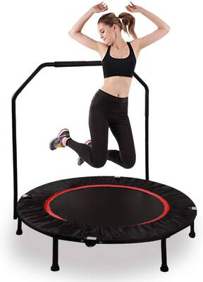 #6. RedSwing Mini Trampoline Rebounder for Adults and Kids, Max Load 270 lbs.