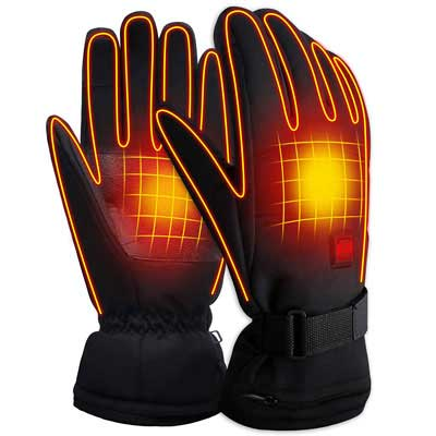 #6. SVPRO Heated Gloves with a Rechargeable Battery for Men and Women