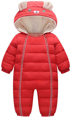 #4. Ohrwurm Toddler's Onesie Infant down Jacket Thin Long Sleeve Winter Snowsuit