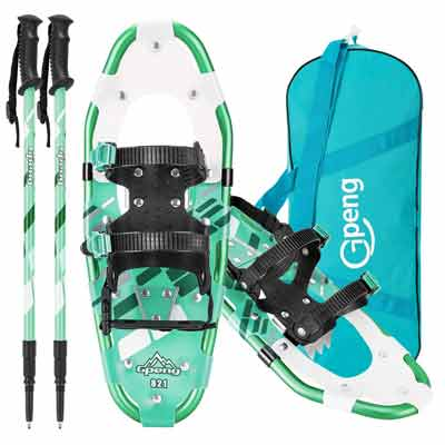 #7. Gpeng 3-in-1 Lightweight Aluminum Alloy Trekking Poles & Carrying Tote Snow Shoes