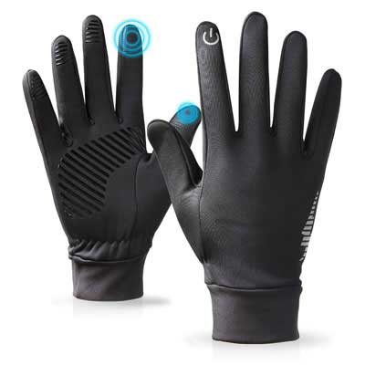 10. PERSIST Winter Men Touchscreen Waterproof Gloves for Running, Cycling