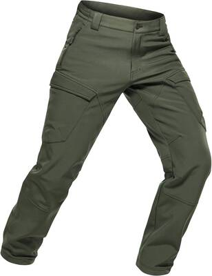 #10. CQR Multi-Purpose High-Density Men's Fleeced Line Water-Repellant EDC Tactical Cargo Pants