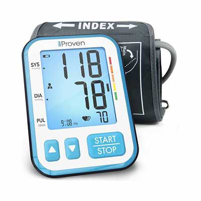 #8. iProven Blood Pressure Monitor, Large Screen with Backlight - Batteries Included