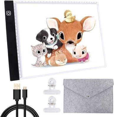 10.Winshine Portable Light Pad for Tracing with a USB cable for Artists Animation and Drawing