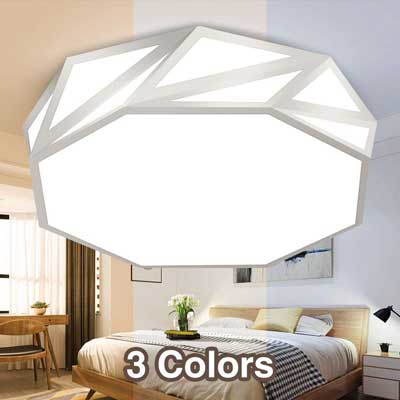#6. Neporal 30W 3 Color Temperature Adjustable 16-Inch Modern LED Flush Mount Ceiling Light