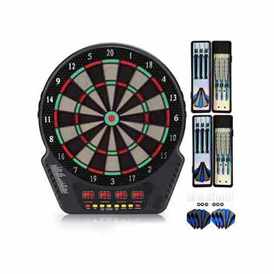 #10. Biange 4 LED Display Spare Tips 13.5 Inch Target Area 27 Games & 243 Variants Electronic Dartboard