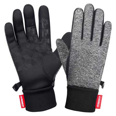 6. LANYI Winter Gloves Windproof Touchscreen Thermal Liner Outdoor Gloves