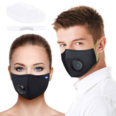 #9. WeProtekt Breathing Valve 5 Replacement Filter PM 2.5 Pollution Face Mask for Smoke Pollen