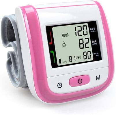 #10. Grewtech Wrist BP Monitor with an Automatic Heart Rate (Pink)