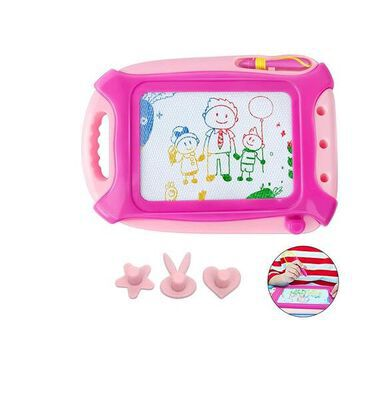 9. Haimst Pink Medium-Sized Travelling Magnetic Doodle Drawing Board Toy for Kids
