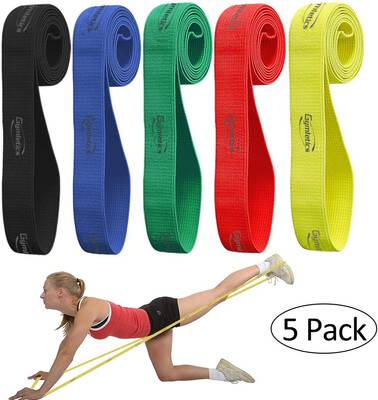 #7. Gymletics 5 Pack Pull Up Assist Bands