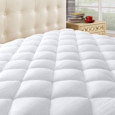 #10. Taupiri Fully Quilted Mattress Pad Cover w/ Deep Pocket, Hypoallergenic Mattress Topper