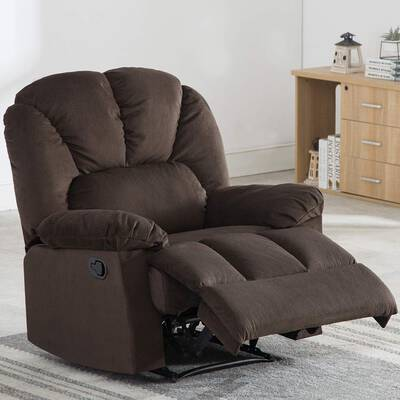 #1. Bonzy Home Fabric Recliner Self Adjusting Footrest & Backrest Comfortable Living Room Chair
