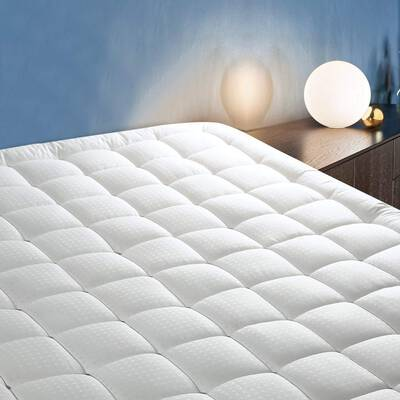 #4. CottonHouse Mattress Topper with the Down Alternative Fill