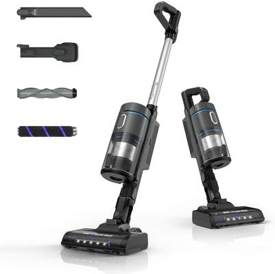 #3. Bagotte 9-in-1 21KPa Powerful Lightweight Handheld Vacuum w/Rechargeable Battery for Home