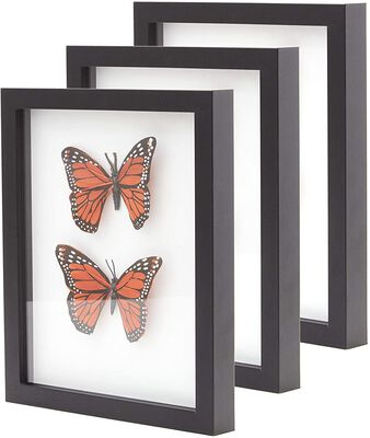 7. Eucatus Best Products & Gifts Super Sturdy Genuine Hardwood Shadow Box Frame