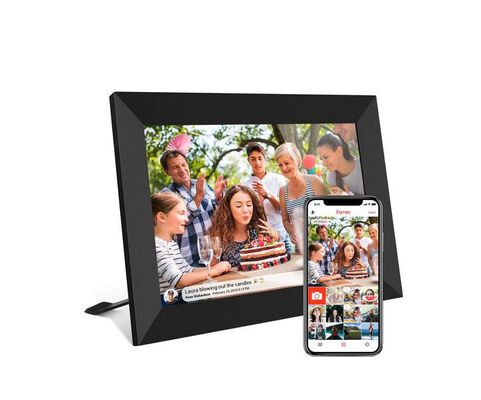 5. AKImart 10.1 inch Smart LCD Touch Screen Digital Photo Frame with Auto Rotate