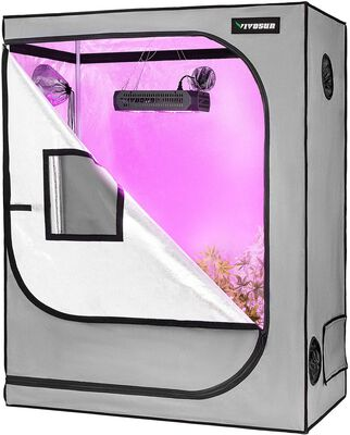 6. Vivosun Mylar Hydroponic Indoor Growing Tent with Observation Window and Floor Tray