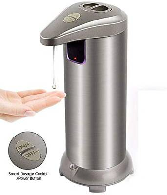 #5. HOPORISE Waterproof Automatic Soap Dispenser Touchless w/On/Off & Output Switch