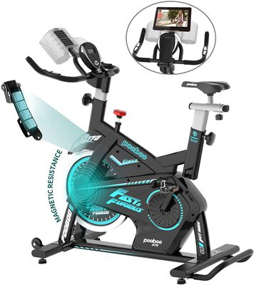 2. Pooboo 330lbs Weight Capacity Magnetic Resistance Adjustable Stationary Bike for Home