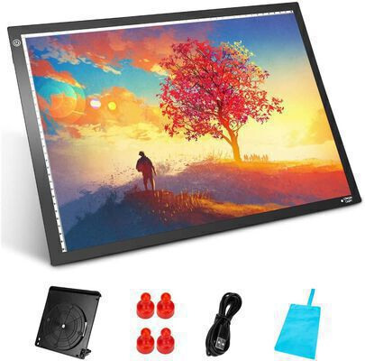 5. Longan Craft Adjustable Dimmable Light Pad for tracing with a Carrying Case