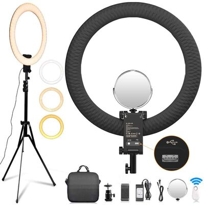 1. Fositan 20 inch Dimmable Ring Light with Stand for Portrait Video Shooting and YouTube
