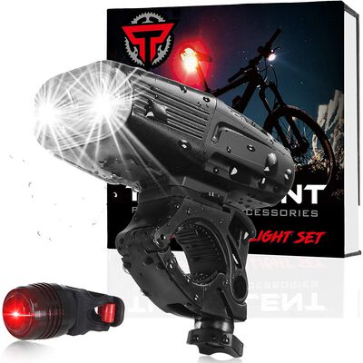 9. Turbulent Waterproof Bicycle Headlight with 5 Enhanced Modes and Ultra Bright LEDs