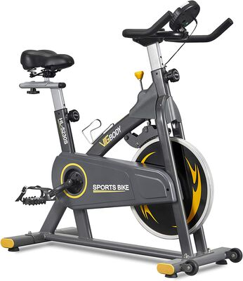 7. Vigbody Upright Workout Cardio Stationary Bike for Home with Adjustable Seat