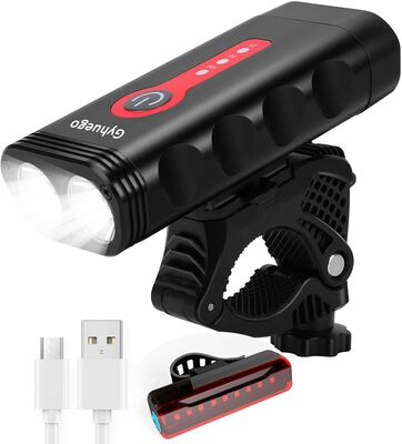 7. Gyhuego 4200 Lumens Waterproof Bicycle Headlight for Safer Cycling and Riding
