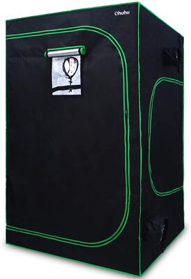 9. Ohuhu Zippered Well Ventilated Indoor Growing Tent with Velcro Side Window