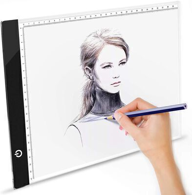 9. YhSuperdanny Portable Ultra Thin Clipped Light Pad for Tracing with Adjustable Brightness