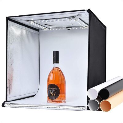 7. Zectic Portable Photo Studio Light Box with Varied Colored Backdrops for Quality Pictures