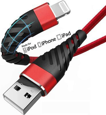 6. CyvenSmart Long iPhone 10 feet MFi Certified Fast Charging USB C to Lightning Cable