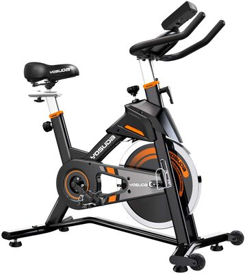 4. Yosuda Indoor Cycling Stationary Bike for Home with Seat Cushion and iPhone Holder