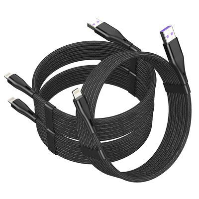 8. Ailawuu Black 6 ft Long Braided USB C to Lightning Cable for Fast Charging and Syncing