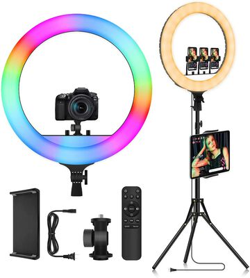 4. Doled 18-inch Dimmable Ring Light with Stand for Video and Photo Taking