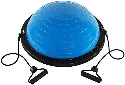 4. Big.Tree Fitness Exercise Balance Half Ball Trainer for Office Yoga and Cardio Moves