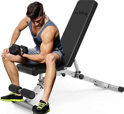 10. FLYFE Adjustable Weight Bench, Full Body Workout