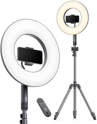 3. Tao Tronics Tripod 14 inch Adjustable LED camera Ring Light with Stand for YouTube