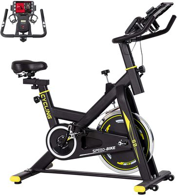 10. Binhia Comfortable Exercise Stationary Bike for Home with iPad Mount and Seat