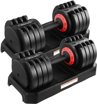 2. Funcode Multifunctional Adjustable Dumbbell with Anti-slip Handle for Home Gym
