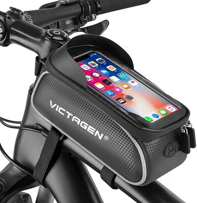 4. Victagen Bike Phone Holder Bag with Humanization Design and Seamless Zipper