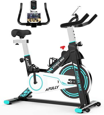 9. Afully Cycling Belt Drive Upright Fitness Cardio Workout Indoor Stationary Bike for Home