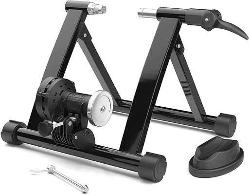 2. STEELGEAR Bike Trainer Stand for Indoor Riding