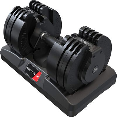5. Nordic Lifting 45lbs Space Saver Adjustable Dumbbell with Interchangeable Dial
